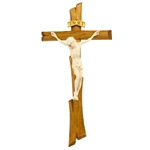 "This beautiful wooden crucifix comes from Zakopane in the Tatra Mountains of southern Poland.  Ready to hang on a wall or stand on display. Size is approx 11"" x  5.5""."