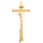 "This beautiful wooden crucifix comes from Zakopane in the Tatra Mountains of southern Poland. Size is approx. 10.5"" x 5""."