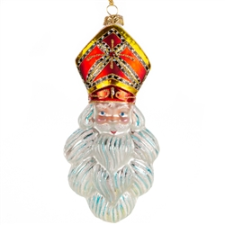 "Exquisitely detailed glass ornament from the studios of Edward Bar in Krakow. Hand blown and decorated with Swarovski crystals. Size is approx 6.5"" x 3"" x 2""."