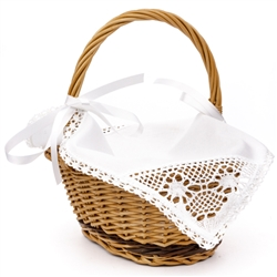 The tradition of having foods for the Easter meal blessed on Holy Saturday is practiced in Poland and in the US. In Poland a wicker basket is filled with a sampling of the Easter meal and covered with a decorative cloth.