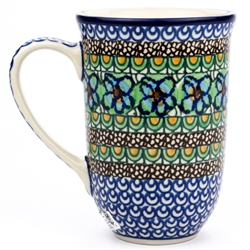 "Pattern designed by master artist Maria Iwicka. The artist has been connected with the Artistic Handicraft Cooperative ""Artistic Ceramics and Pottery"" since 1981. A pattern designer since 1993. Unikat pattern number U151."