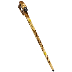 "The ciupaga is the Polish mountaineer's walking stick. Beautifully hand carved and stained. These models are intended for decorative use only. Approx 35.5"" x 7"" x 1.5"".  Made In Poland."