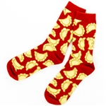What's better than pierogi socks on your feet? Well that would be real pierogi in your hand, but we don't sell actual pierogi so the socks will have to do. Deliciously fried pierogi dance around like golden brown bringers of happiness.