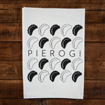 "Pierogi lovers are really going to enjoy this decorative kitchen tea towel  100% cotton flour sack towel.  Size is approx 29"" x 29"""