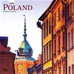 This beautiful 16 month calendar features 12 city and country scenes in full color, suitable for framing. All English language and US weekly format (Sunday is the first day of the week). Polish holidays and names days are not listed.