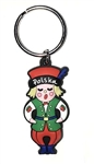 "Attractive rubber key chain featuring a Polish dancer in folk costume. Size is approx 3.25"" x 1"""