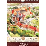 This beautiful small format spiral bound 14 month wall calendar features the works of Polish artist Katarzyna Tomala. 15 scenes from Krakow in watercolours.