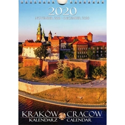 This beautiful small format spiral bound 14 month wall calendar features 15 scenes from Krakow in photos.