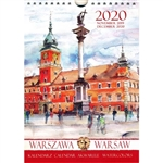 This beautiful small format spiral bound 14 month wall calendar features the works of Polish artist Katarzyna Tomala. 15 scenes of Warsaw in watercolours.