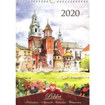 This beautiful large format spiral bound wall calendar features the works of Polish artist Katarzyna Tomala. 15 scenes from around Poland in watercolours. Includes all Polish holidays and names days in Polish. European layout-Monday is the first day of wk