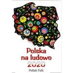 This beautiful wall calendar features 13 pages of poster quality Polish folk art designs on glossy paper. The artistry is truly superb.  Days of the week are in Polish and English abbreviations. European layout - Monday is the first day of the week.