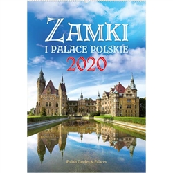 Castles and Palaces Zamki I Palace 2020 Calendar - Includes all Polish holidays, names days in Polish. European layout (Monday is the first day of the week). Descriptions as well as days and months are in 4 languages; Polish, English, German and Ukranian