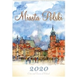This beautiful spiral bound 14 month wall calendar features the works of Polish artist Katarzyna Tomala. 13 scenes Polish Cities in watercolours.