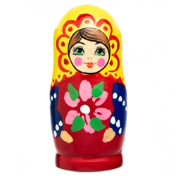 A delightful pin shaped like a Matryoshka doll. Each pin is hand painted, so no two are ever alike. Surprise is part of the fun! A great teacher gift!