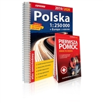 Clear and updated 2020 edition Poland Atlas at a scale of 1:250 000.  Packed with useful information.