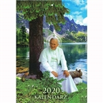 The calendar with John Paul II 2020 is a work created for Catholics, for whom the figure of John Paul II is a model of faith and devotion to God.