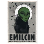 "Post Card: Emilcin, Polish Tourist Poster designed by artist Ryszard Kaja in 2018. It has now been turned into a post card size 4.75"" x 6.75"" - 12cm x 17cm."