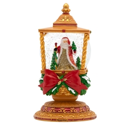 St. Nick will shine a light, as he joyfully makes his journey through a winter wonderland!  This lavish lantern makes the perfect centerpiece for your home this Christmas!