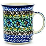 "Designed by master artist Maria Iwicka. The artist has been connected with the Artistic Handicraft Cooperative ""Artistic Ceramics and Pottery"" since 1981. Since 1993 she has been a pattern designer. Unikat pattern number U151"