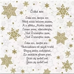Beautiful Polish Christmas Carol Luncheon Napkins (package of 20) featuring the words to four well known Polish Carols (koledy):