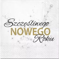 Beautiful Polish Christmas Carol Luncheon Napkins (package of 20) featuring 