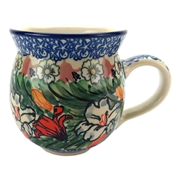 "Unikat pattern designed by Ewa Karbownik. The artist has been connected with the Artistic Handicraft Cooperative ""Artistic Ceramics and Pottery"" since 1980, whereas since 1994 she has been a pattern designer. Unikat pattern U4236."