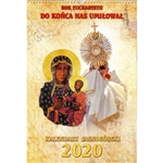 Published by the Pauline Father at the Jasna Gora Monastery in Chestochowa, Poland.  Each page features the consecrated host and a picture of Our Lady of Czestochowa.  US format - Sunday is the first day of the week.  Text is in Polish language only.  Fea