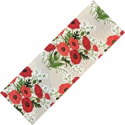 Beautiful printed linen table runner with one of Poland's most popular flower.