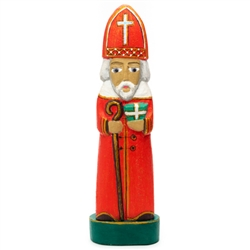 Swiety Mikolaj is one of the most popular themes in Polish folk art. Folk artist Jerzy Zbrozek carves and paints these very traditional St. Nicholas figures.