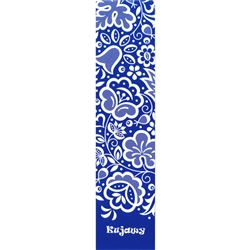 This is a beautiful Kujawski floral pattern printed on a bookmark. Stylized floral pattern associated with the people of Kujawy, an ethnographic region in the river basin of the central Vistula and the upper Notec, in the Greater Poland lake district.
