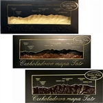 Handmade in Southern Poland this is a chocolate bar formed into a map of the Polish Tatry Mountains. Available in milk or white chocolate.  Height and names of 7 of the most famous mountains are listed on the box cover directly over their location