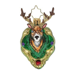 If you're hunting for the perfect buck Christmas ornament, look no further! This deer is a real prize.