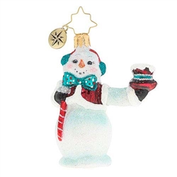 This little snowman gives credit where credit is due. He knows you've been good all year, so hats off to you!