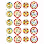 "Set of 20 Religious Easter stickers. Sheet size is 6.25"" x 4.5"""