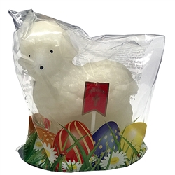 "A traditional hand made Polish Easter Mini sugar lamb. ​Size is approx 2.25"" L x 1.1"" W x 2.5"" H​. Perfect for the Easter table and as a gift."