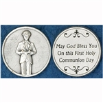 Great for your pocket or coin purse. 1st Communion-Boy