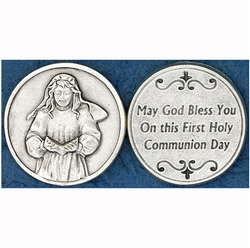 Great for your pocket or coin purse. 1st Communion- Girl