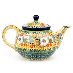 "Beautiful teapot with a 30oz. capacity - 3.8 cups. Pattern designed By Teresa Liana. The artist has been connected with the Artistic Handicraft Cooperative ""Artistic Ceramics and Pottery"" since 1983. Since 1992 she has been a pattern designer."