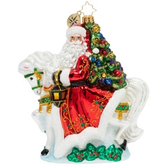 Woah, nelly! This ornament's got some mighty horsepower to carry Santa right into Christmas.