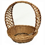 Poland is famous for hand made willow baskets.  This model is a beautifully woven lattice handle using 2 shades of willow.  Beautifully crafted and sturdy, these baskets can last a generation.  Perfect for Easter.