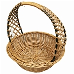 Poland is famous for hand made willow baskets.  This model is a beautifully woven lattice work handle using 2 shades of willow.  Beautifully crafted and sturdy, these baskets can last a generation.  Perfect for Easter,