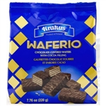 Bite size dark chocolate covered mini wafers, with four layers of wafer joined by three layers of cocoa filling.  Great alone or with tea, coffee, milk or your favorite beverage.