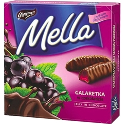 Dark Chocolate covered black currant jellies.