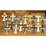 "Polish Pottery Stoneware Medium Crosses 4.75"". Hand made in Poland"