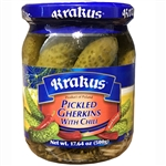 Polish pickled gherkins are the perfect condiment.  These smaller size pickles will hit the spot!
