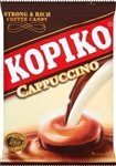 Kopiko Cappuccino Candy is made from the finest coffee beans extract  specially blended with creamy milk.Enjoy this creamy and full tasting cappuccino coffee anywhere, anytime.
