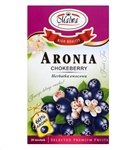 Another delightful Polish tea made from the fruits of Chokeberry fruit (60%), Hibiscus flowers, flavors and elderberries.