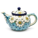 "Beautiful teapot with a 1.2 Liter (40oz) capacity (5 cups). Pattern designed by Teresa Liana The artist has been connected with the Artistic Handicraft Cooperative ""Artistic Ceramics and Pottery"" since 1983. Since 1992 she has been a pattern designer."