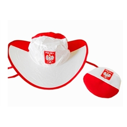 Super light weight hat folds into itself and comes with its own zip up pouch.  Perfect for that summer walk or at the beach.  Wide brim provides perfect shade.  Comes with ties for those windy days.