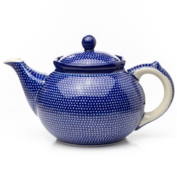 "Beautiful teapot with a 1.2 Liter (40oz) capacity (5 cups).Pattern Designed By Maria Ciszewska. The artist has been connected with the Artistic Handicraft Cooperative ""Artistic Ceramics and Pottery"" since 1981. Since 1994 she has been a pattern designer."